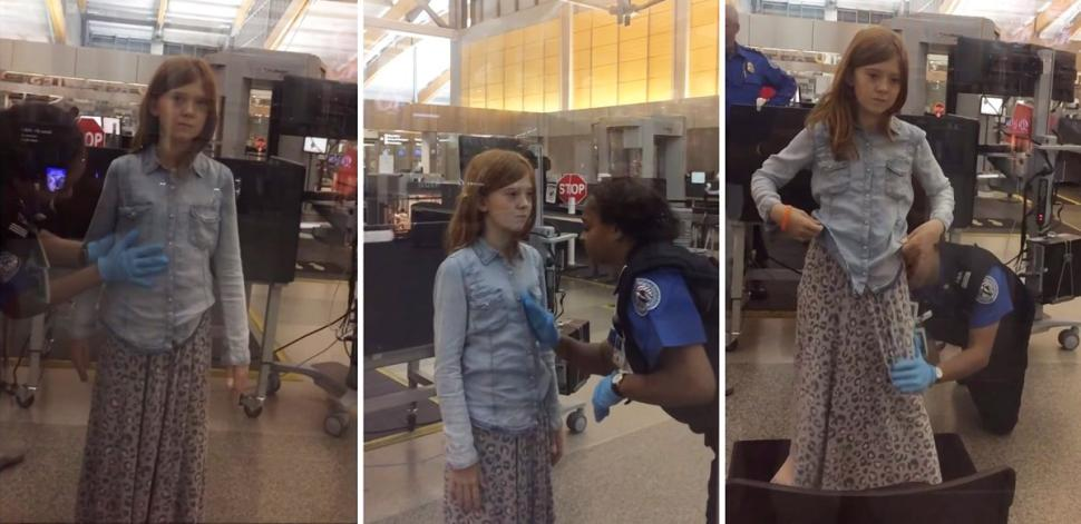 Father angry over TSA agents invasive pat down of 10