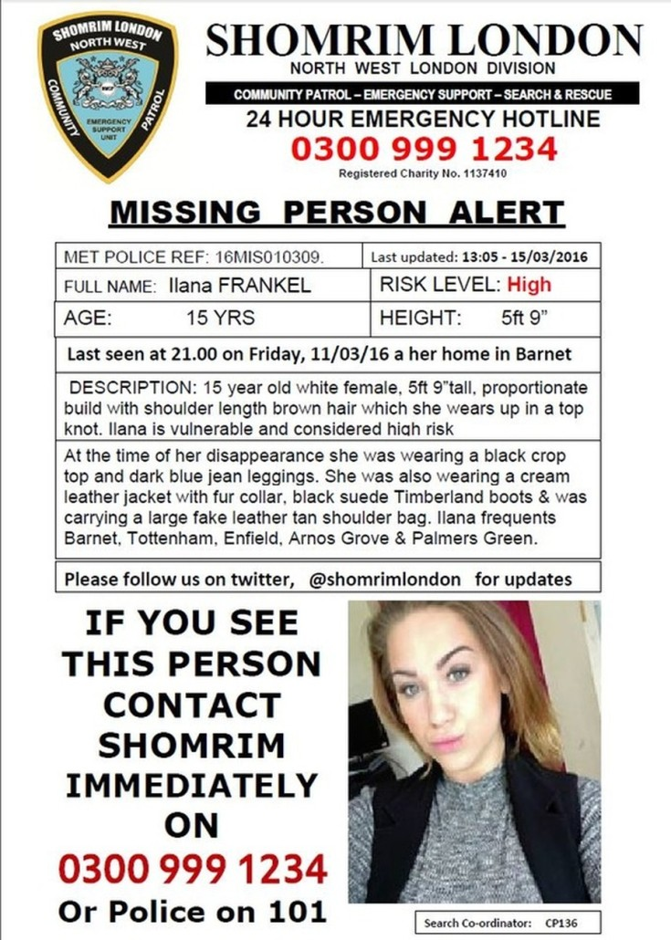 Missing 15 Year Old Girl Found
